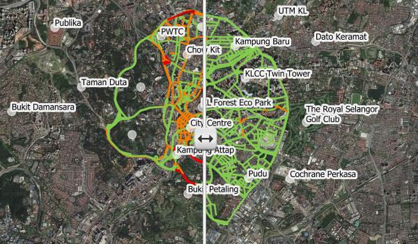 COVID-19 Movement Control Order (MCO) Effect on Kuala Lumpur City Centre