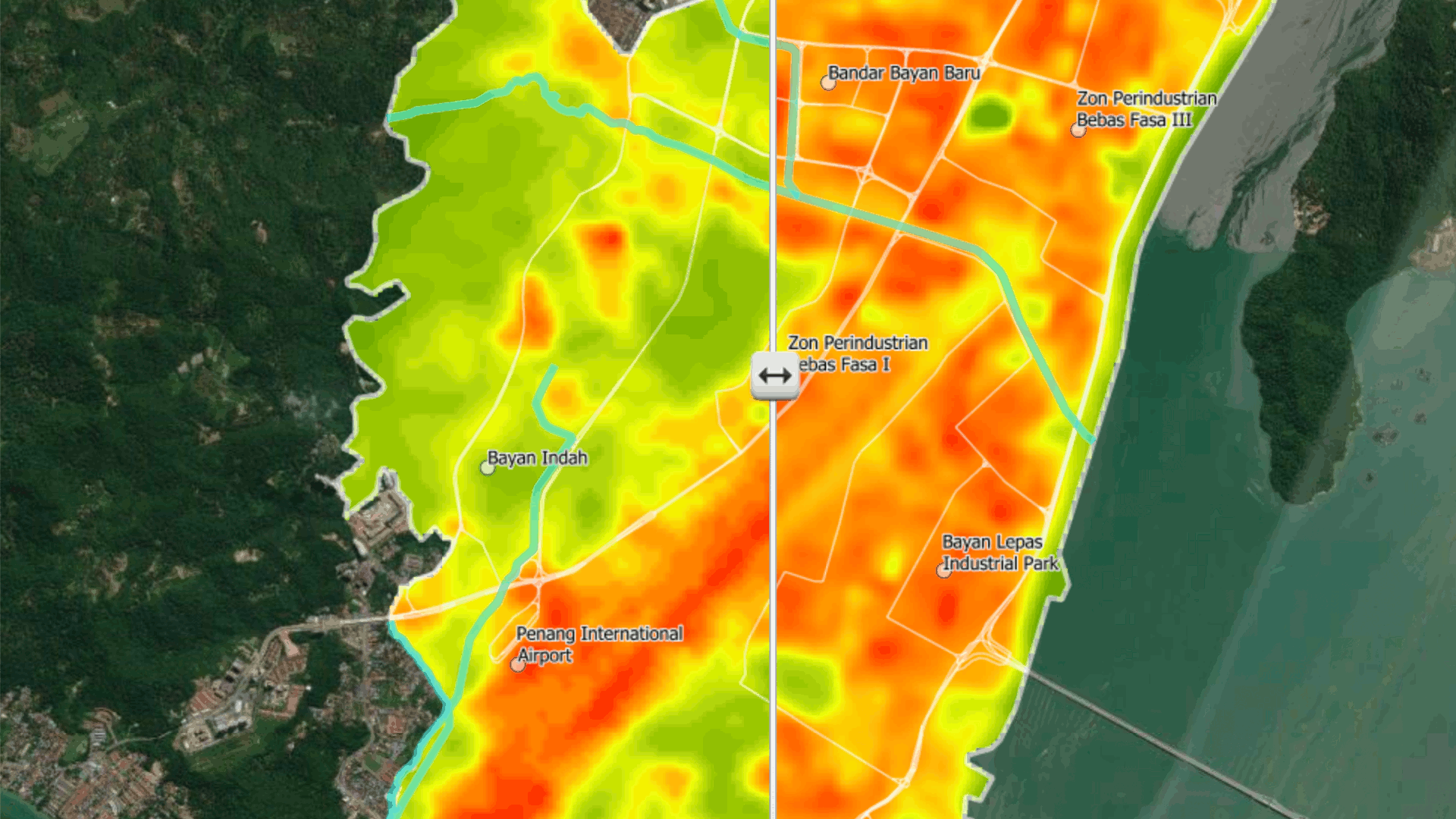 Think City Land Surface Temperature Mapping Shows Malaysian Cities are Getting Hotter